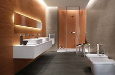 Majestic 7 Beautiful Wall Ceramic Ideas For Your Home Bathroom Wall ceramic is one of the useful parts for the ideal bathroom decoration if it ensures a minimalist, modern or luxurious concept. Bathroom Furniture, Bathroom Wall, Modern Bathroom, Small Bathroom, Ceramic Wall Tiles, Color Tile, Beautiful Wall, Cool Walls, Home Interior