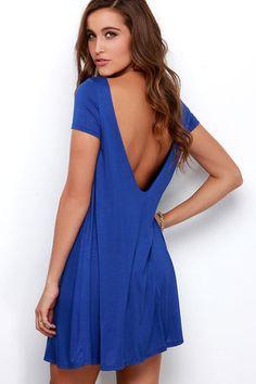 Cute Royal Blue Dress
