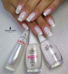 Image may contain: one or more people Acrylic Nail Shapes, Acrylic Nails, Gel Uv Nails, White Coffin Nails, Coco, Cute Nail Designs, Love Nails, Manicure And Pedicure, Trendy Nails