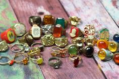 1 Vintage Bubblegum Prize Ring by CaityAshBadashery on Etsy
