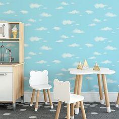 Carousel Clouds Sidewall Wallpaper | Dunelm