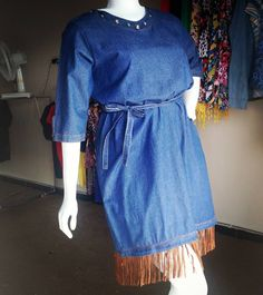 #jeans #dress #franjas