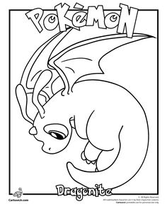 Pokemon Coloring Pages | Pokemon Coloring Pages & Pokemon Printable Crafts Dragonite Pokemon ...