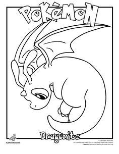 Pokemon Coloring Pages | Pokemon Coloring Pages & Pokemon Printable Crafts Dragonite Pokemon ...