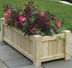 Large wooden planters- The Hamptons are large classic wooden garden planters hand crafted in our own workshop from British grown red cedar Large Wooden Planters, Rectangular Planters, Wood Planters, Outdoor Planters, Flower Planters, Garden Planters, Diy Garden, Wooden Garden, Garden Boxes