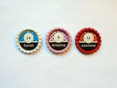 Personalized Color Flattened Bottle Cap Volley Ball Themed Hair Bow Centers, Flip Flop Embellishments, Hair Clip Embellishments by CandSCraftSupplies on Etsy