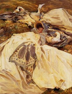 John Singer Sargent (American, 1856-1925) Two Girls in White Dresses, c.1910