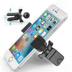Support Téléphone Voiture , Ubegood Support Voiture Auto Universel à Grille d'aération avec Rotation 360 Degrés pour iPhone 7/ 7 Plus/ 6/…