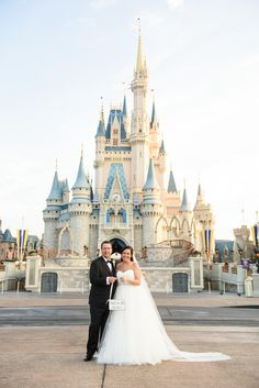 Kristin & Timothy's Magic Kingdom Disney castle photo shoot!