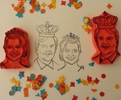 Portretstempels van het Koningspaar