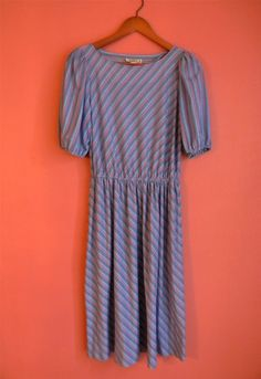 Vintage Dress 70s 80s Purple Asymmetrical by PinkCheetahVintage, $24.00