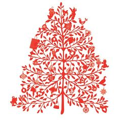 Christmas tree wall sticker from Silviastickers