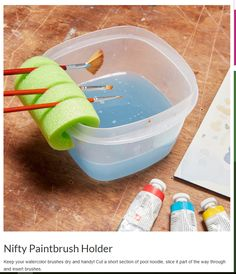 25 Pool Noodle Hacks That Will Improve Your Life is part of Crafts - Those colorful foam pool toys are useful all around the house and with a few tweaks, pool noodles can be even MORE fun in the water Rangement Art, Diy And Crafts, Arts And Crafts, Summer Crafts, Decor Crafts, Easy Crafts, Geek Crafts, Wreath Crafts, Space Crafts
