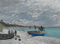 The Beach at Sainte-Adresse - Claude Monet, 1867, The Art Institute of Chicago http://www.artic.edu/aic/collections/artwork/14598 Claude Monet spent his childhood and adolescent years in Normandy. In 1867, Monet painted the Beach at Sainte-Adresse and its possible pendant, Regatta at Sainte-Adresse. Although there is no evidence that he wanted to exhibit or sell these paintings as a pair, they are similar in size and depict the same stretch of beach from the same viewpoint.