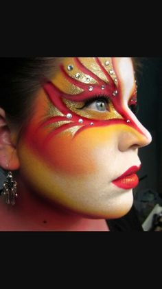 """Circ du soleil"" fantasy makeup"