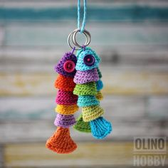 Crochet Fish Keychain Pattern