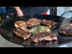 Ribeye Steaks - YouTube Steaks, Pork, Cooking Recipes, Meat, Youtube, Beef Steaks, Kale Stir Fry, Chef Recipes, Steak