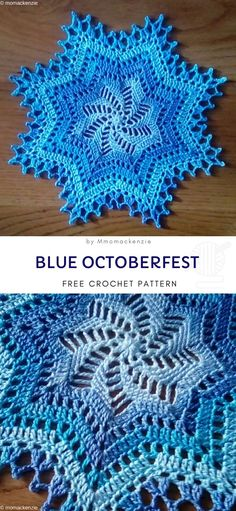 Those blue doilies will really bring winter vibe into your house. As if real snowflakes flew in and brought the magical, festive vibe. frei Deckchen Winterfest Doilies Will Make Your Home Ready For Christmas - Free Crochet Pattern Free Crochet Doily Patterns, Crochet Snowflake Pattern, Crochet Stars, Crochet Snowflakes, Thread Crochet, Crochet Patterns For Beginners, Real Snowflakes, Crochet Angels, Crochet Ornaments