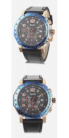 MEGIR ML2048 Male Quartz Watch -$27.5 Watches For Men, Men's Watches, Chronograph, Quartz Watches, Accessories, Jewelry Accessories