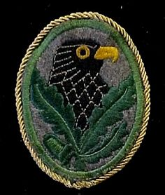 The coveted sleeve Sniper Badge of the German army. Snipers avoided wearing it because the Russians would shoot any prisoner wearing the badge on the spot.