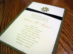 Handmade custom designed & cut wedding  invitation http://www.invitationtwist.ca/