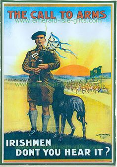 Vintage Wwi Call To Arms Irish Ireland War Recruitment Poster Wilhelm Ii, Kaiser Wilhelm, Ww1 Propaganda Posters, Protest Posters, Political Posters, Irish Men, Irish Celtic, World War One, Wwi