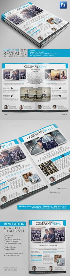Indesign Newsletter Template  Newsletter Templates And Print