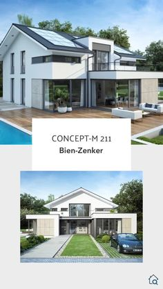 Small Modern House Plans, Modern Small House Design, Classic House Design, Beautiful House Plans, Duplex House Design, Modern Villa Design, Small Modern House Exterior, Modern Bungalow House Design, Modern Family House