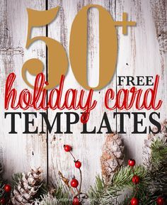 50 free holiday photo card templates - Free Photo Christmas Card Templates