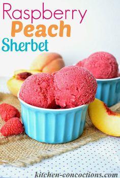 Peach And Buttermilk Sherbet Recipe — Dishmaps