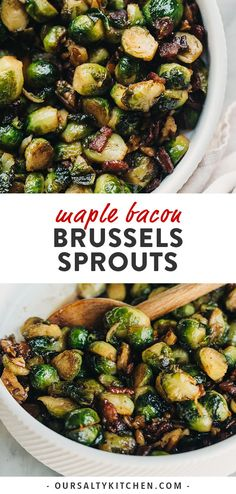 Maple bourbon glaze makes these crispy bacon brussels sprouts just a little extra special. The entire family will love this easy, gluten free Thanksgiving side dish! You'll love it too because it's make-ahead friendly, or ready in just 30 minutes! Easy Thanksgiving Sides, Healthy Thanksgiving Recipes, Gluten Free Thanksgiving, Vegetarian Thanksgiving, Vegetable Sides For Thanksgiving, Easy Thanksgiving Appetizers, Italian Thanksgiving, Holiday Appetizers, Thanksgiving Menu