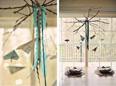 Paper Plane Mobile | 41 Amazing Free People-Inspired DIYs