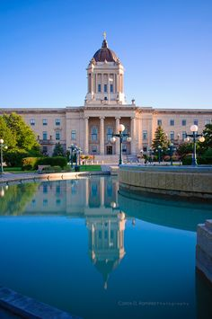 Manitoba Legislative Building, Winnipeg My favourite place to wander aimlessly for an afternoon. O Canada, Canada Travel, Places To Travel, Places To See, Places Around The World, Around The Worlds, Western Canada, Largest Countries, North America