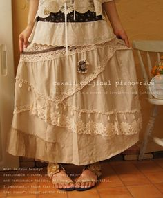 Lacey skirt - Think my limited sewing skills could do this and with a nice pair of boots...pretty