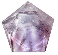 Amethyst Polygon 09 Very Clear Purple Pentagon Star Natural Crystal Energy Stone
