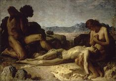 Léon Bonnat (French, 1833-1922) Adam and Eve Mourning the Death of Abel (c. 1860)