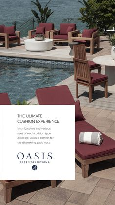 Arden Selections Oasis Outdoor Luxury Foam Cushions Patio Chair Cushions, Outdoor Cushions, Patio Chairs, Foam Cushions, Outside Living, Outdoor Living, New Patio Ideas, Beach Room, Outdoor Furniture Sets