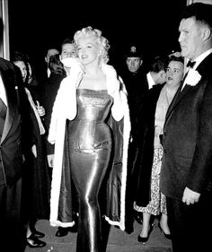 """""""Marilyn Monroe at the premiere of Cat on a Hot Tin Roof, 1955. """""""