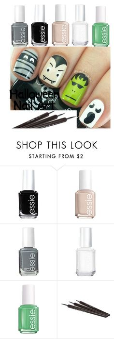 """squad goals"" by maxiemart ❤ liked on Polyvore featuring beauty and Essie"