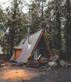 Myths that have discouraged many from buying or building a log cabin. Tiny House Cabin, Tiny House Design, Cabin Homes, Cabins For Sale, Cabins And Cottages, A Frame Cabin, A Frame House, Cabin Tent, Cozy Cabin