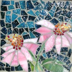 Coneflowers II: Stained Glass Mosaic Wall Art by MaitriMosaics on Etsy                                                                                                                                                                                 More