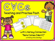 """This pack contains resources for teachers to use while teaching the CVCe spelling pattern a.k.a the """"silent e"""". It aligns with Fundations Level 1, Unit 14. I have integrated this unit of study with the book """"Here Comes Silent E"""" written by Anna Jane Hays and illustrated by Joann Adinolfi. After read... Some Words, New Words, E Puzzle, Making Sentences, Silent E, Teaching Posters, Spelling Patterns, Making Words, Activity Sheets"""