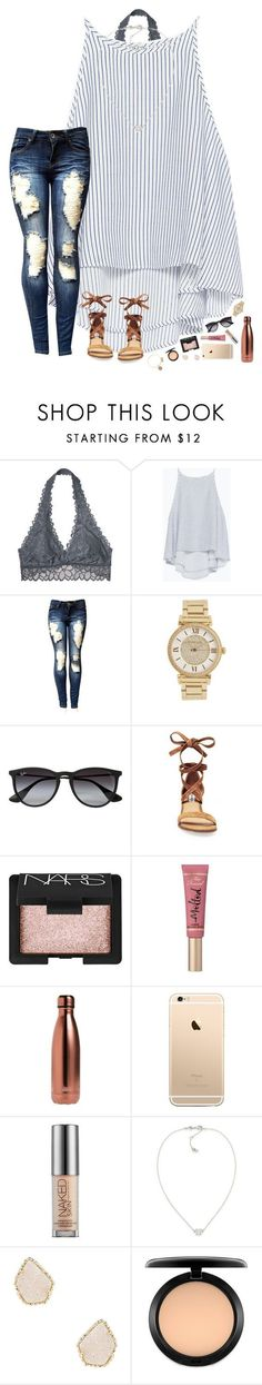 """HBD to my bestie! ✨"" by hopemarlee ❤ liked on Polyvore featuring Victoria's Secret, Zara, Michael Kors, Ray-Ban, Steve Madden, NARS Cosmetics, Too Faced Cosmetics, S'well, Urban Decay and Carolee"