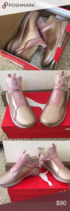 Puma Fierce Rose Gold -Mesh and ariaprene bootie construction provides 360 degree movement. Puma Shoes Sneakers