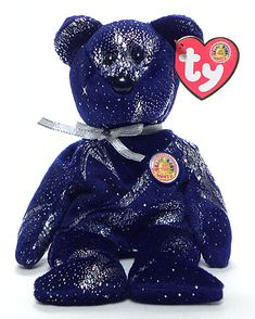 Astra, Ty BBOM Beanie Baby bear, reference information and photograph. Beanie Babies Value, Rare Beanie Babies, Beanie Baby Bears, Ty Beanie Boos, Ty Bears, We Bare Bears, Ty Plush, Ty Babies, My Teddy Bear