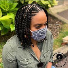 Box Braids Hairstyles For Black Women, Faux Locs Hairstyles, Braids For Short Hair, African Braids Hairstyles, Twist Hairstyles, Amazing Hairstyles, Natural Hair Styles, Short Hair Styles, Braid Styles