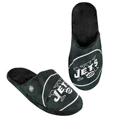 NFL New York Jets 2011 Big Logo Slide Slipper Hard Sole Large >>> To view further for this item, visit the image link.