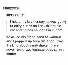 Hahahaahah!! I wish I could do this but my brothers car is too small and his friends are too big