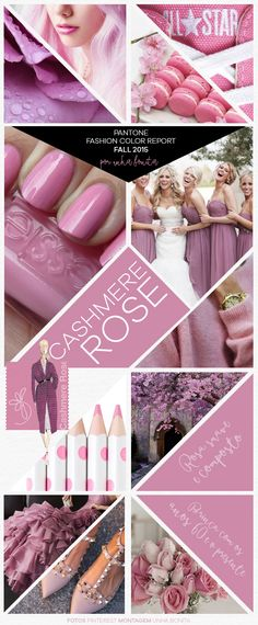 FALL 2015 Pantone Fashion Color Trend inspirations - cashmere rose