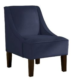 Amazon.com: Skyline Furniture Swoop Arm Chair in Velvet Navy: Furniture & Decor